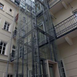 Presklený panoramatický výťah